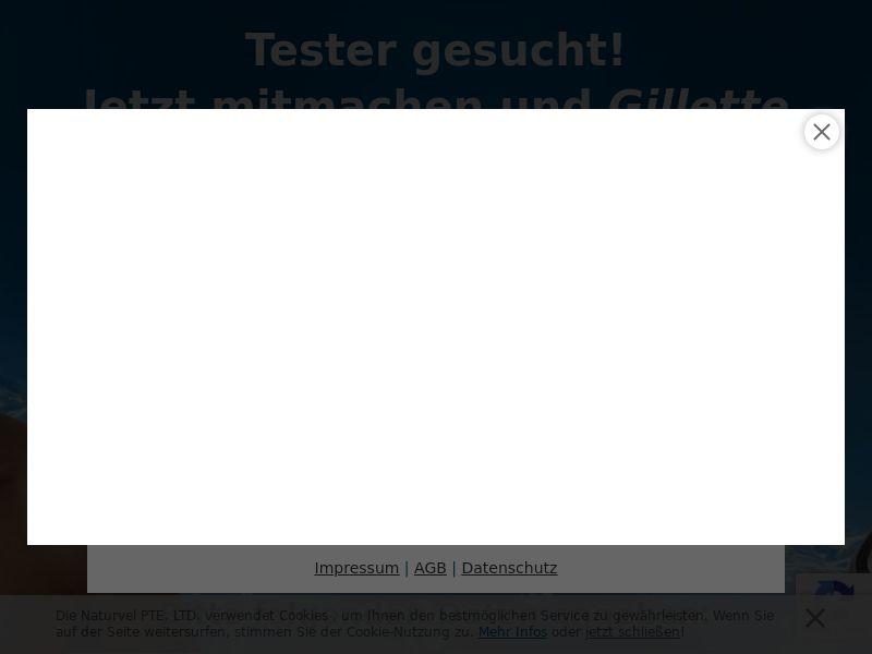 12345) [WEB+WAP] Gillette tester(FB) - DE - CPL
