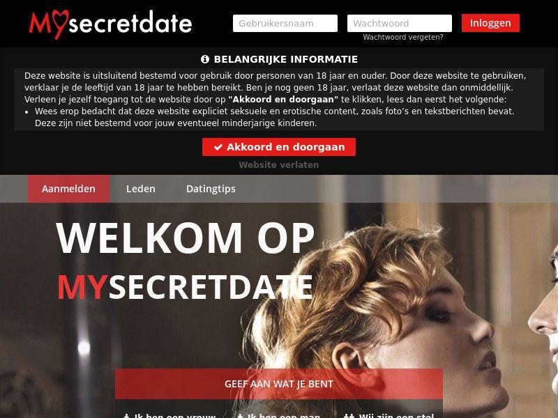 Mysecretdate - DOI - Mobile - NL/BE