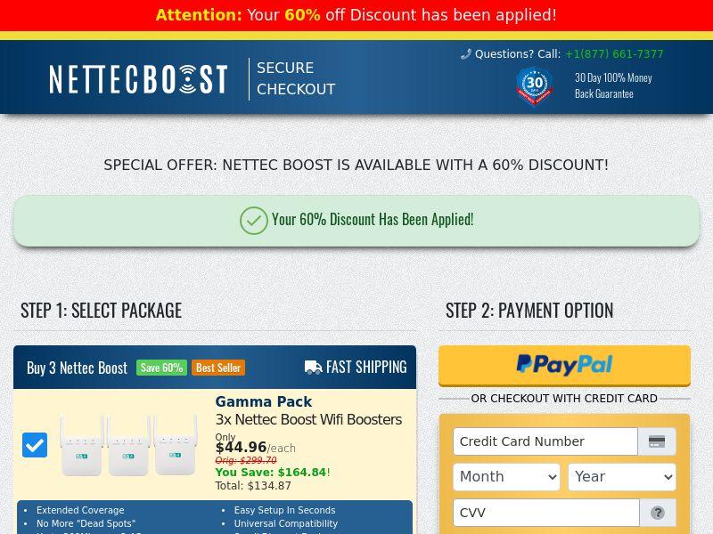 Nettec Boost SS - US/CA (No brand bidding)