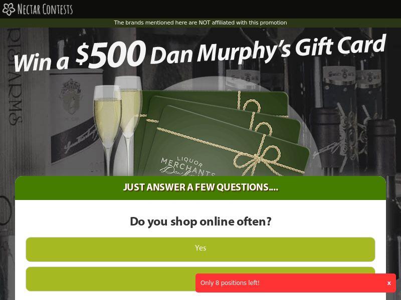 Dan Murphy gift card - AU (AU), [CPL]