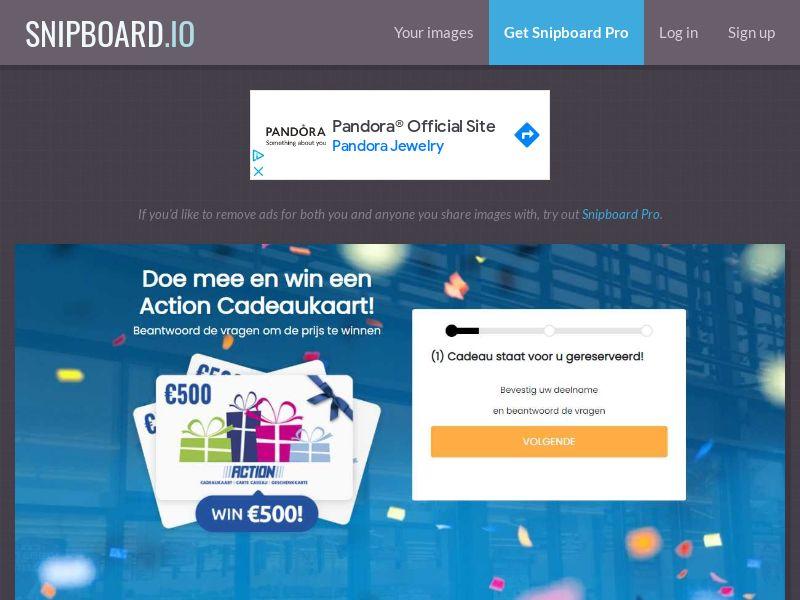 40802 - NL - WinAds - Action NL (discount store) €500 voucher - SOI