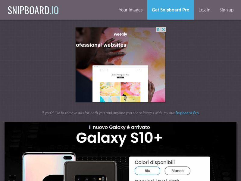 37181 - IT - Lotto24 - Samsung Galaxy S10+ - 100 cap - CC submit