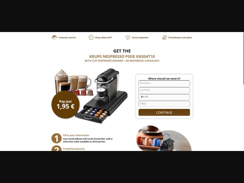 Krups Nespresso Pixie - Sweepstakes & Surveys - Trial - [FR]