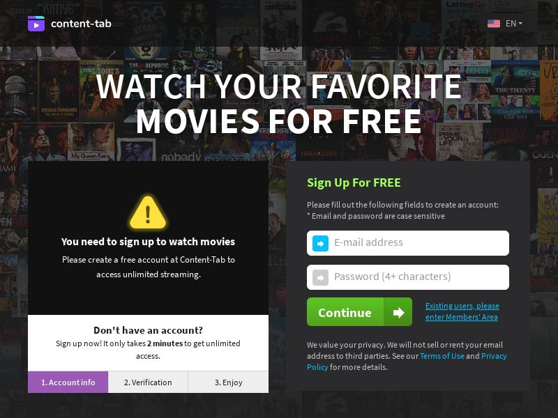 AdCenter Movies Shortflow (PT) - CPA, VOD, Free Trial, CC Submit, Multi-Geo