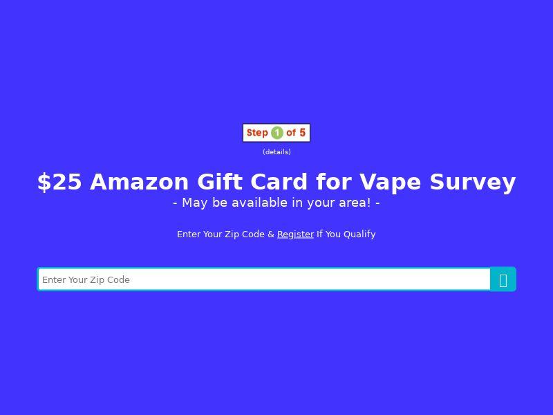 Vape survey - (ZIP SUBMIT) - US