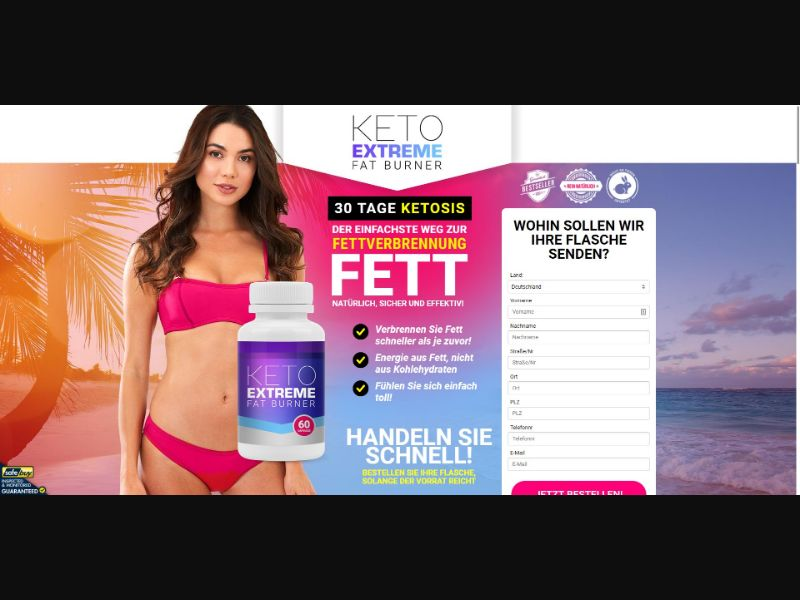 Keto Extreme Fat Burner - Diet & Weight Loss - SS - [DE]
