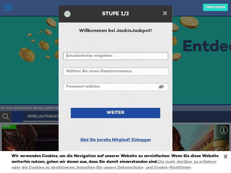 JackieJackpot - DE (DE), [CPA]