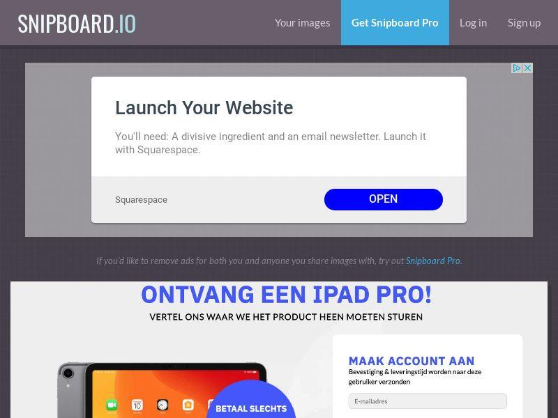CoreSweeps - iPad Pro NL - CC Submit