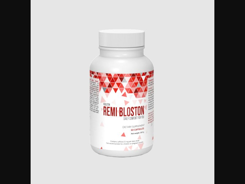 REMI BLOSTON - blood pressure – PT – CPA – capsules - COD / SS - new creative available