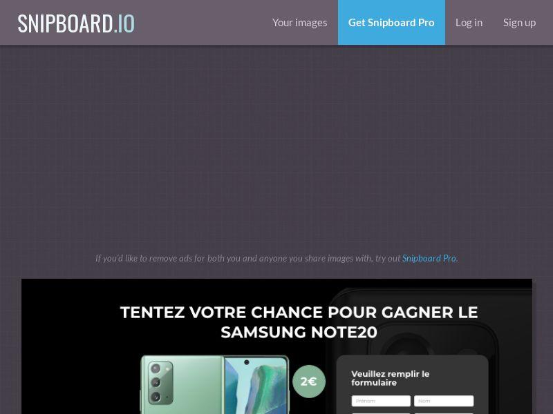 BigEntry - Samsung Note 20 v2 FR - CC Submit