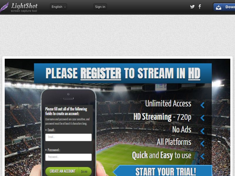 Faztplay Streaming Straight to Sign Up - Trial - UK