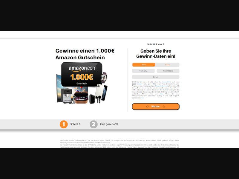 1.000€ Amazon Gift Card - INCENT - DE