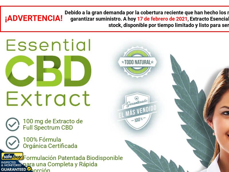 Essential CBD Extract LP01 - Spanish