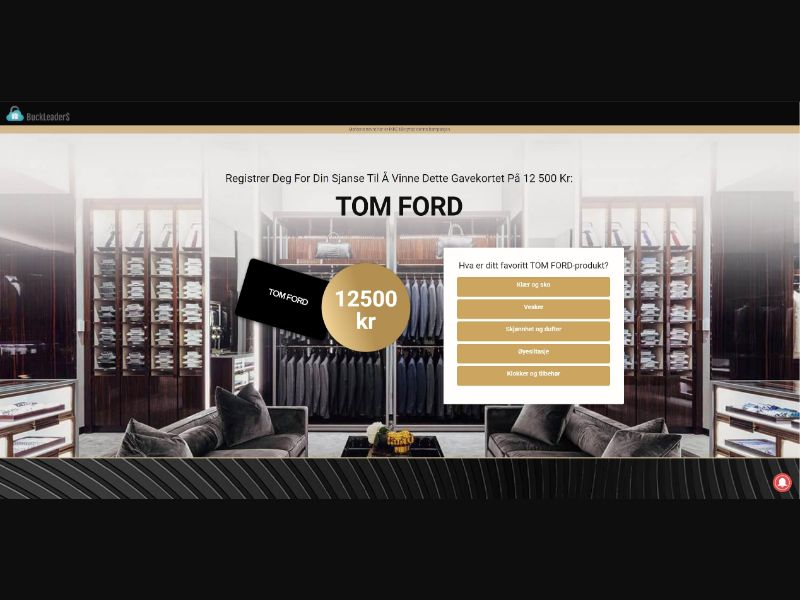 NO - Win Tom Ford Gift Card [NO] - SOI registration