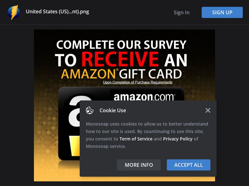 United States (US) - Amazon Gift Card (Responsive) (Incent)