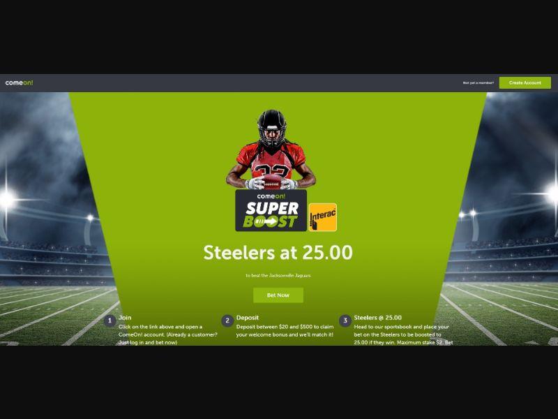 ComeOn - NFL Super Boost [CA] - CPL