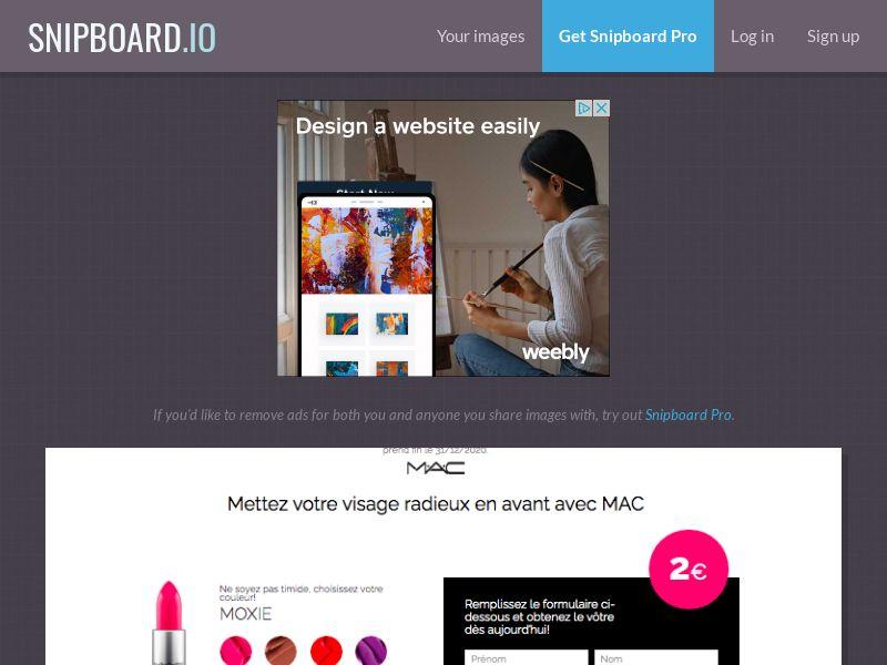 BigEntry - MAC Cosmetics v1 FR - CC Submit