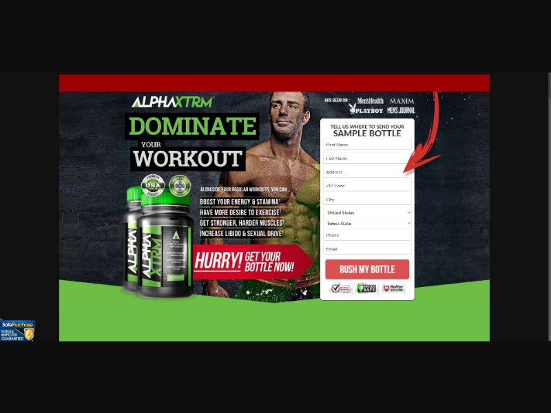 Alpha XTRM - Male Enhancement - Trial - [US] - with 1-Click Upsell [Step1 $22.1 / Upsell $22.1]