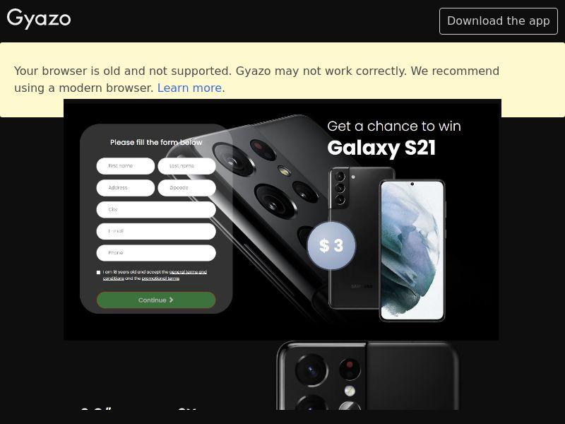 Win Samsung Galaxy S21 (AU) (Trial)