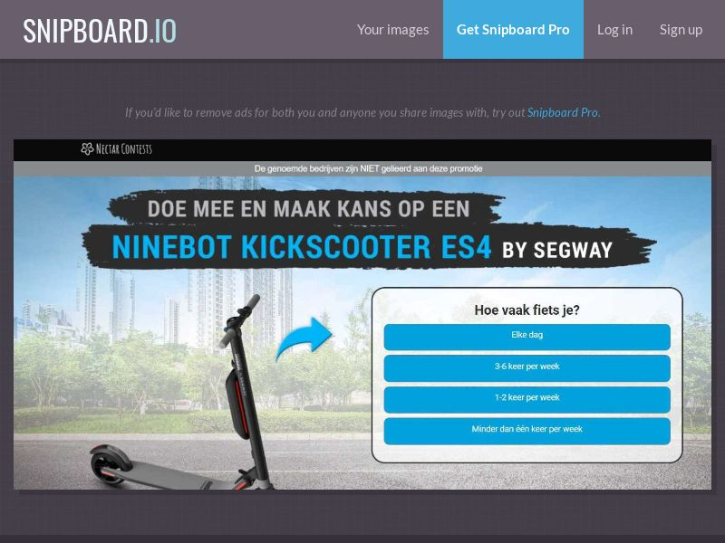 37878 - NL - NectarContests - Segway scooter (With Prelander) - SOI