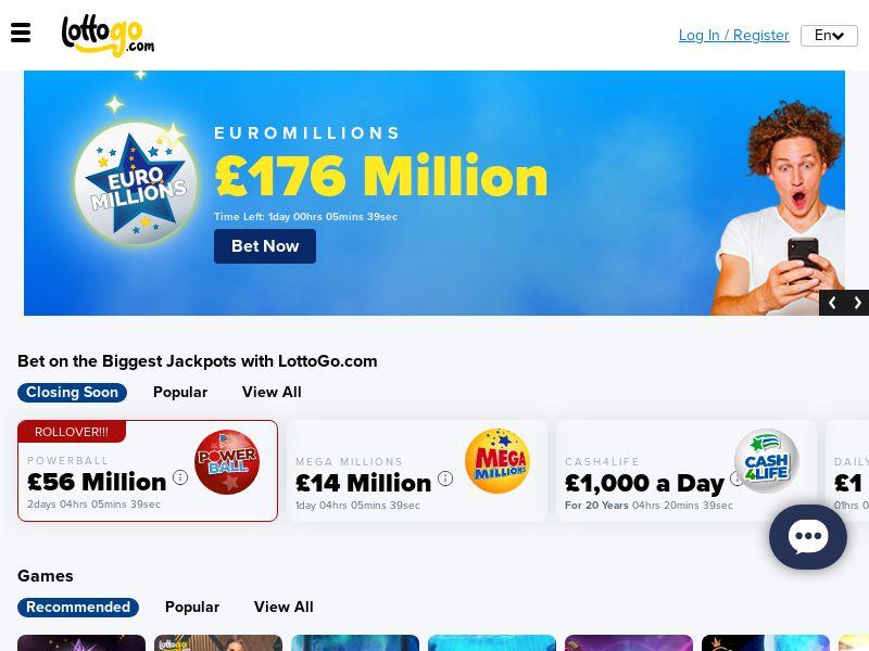LOTTOGO - MEGA Millions - 10 bets for $2.00 - AU