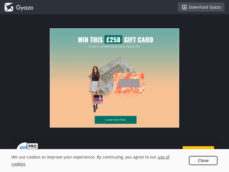Win Ted Baker Gift Card Worth £250 - SOI - UK <<*PENDING*PRIVATE OFFER*>>