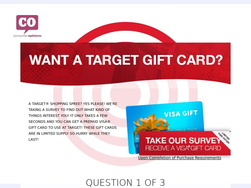 Email Submit Target Gift Card - US