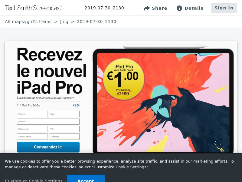 winlotsofthings iPad Pro (Sweepstake) (CC Trial) - Luxembourg