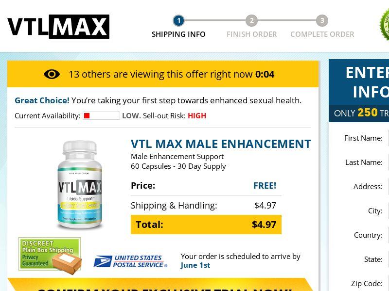 VTL Max ME (Trial) (US) (Survey Allowed)