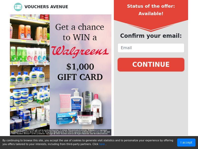 US - Vouchers Avenue - Walgreens Gift Card