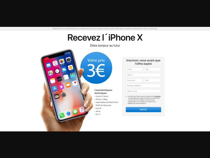 France (FR) - PointWorld - Get the iPhone X (Responsive)