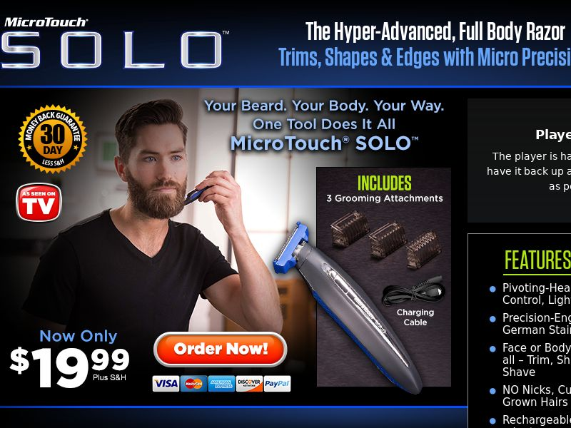 As Seen On TV Micro Touch Solo Grooming tool