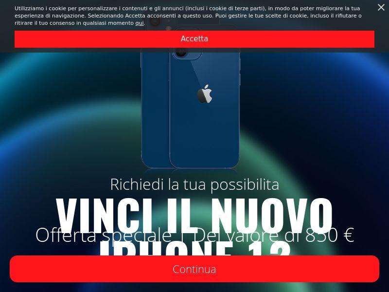 Win iPhone 12 Sweeps - IT