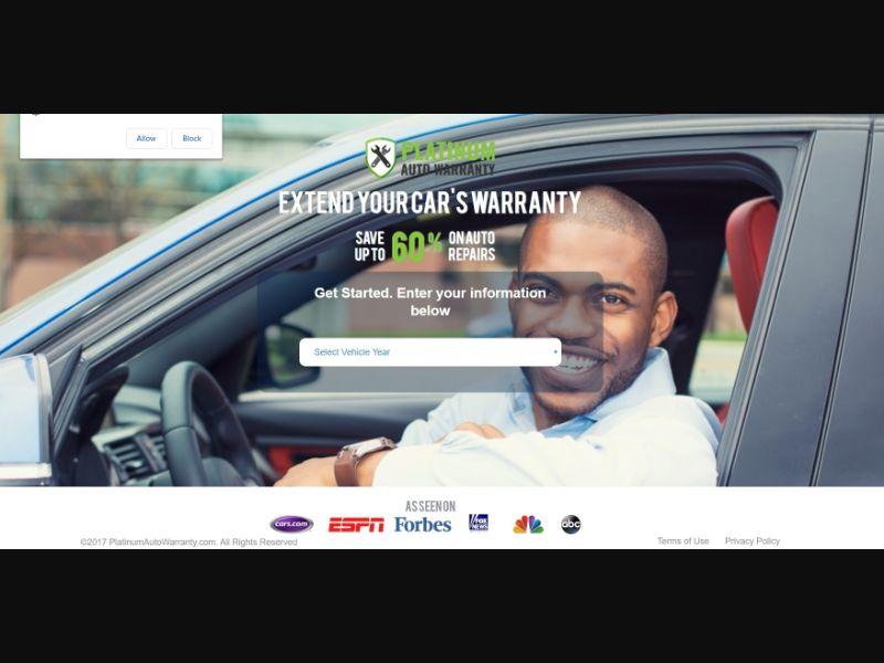 US - Platinum Auto Warranty - CPA
