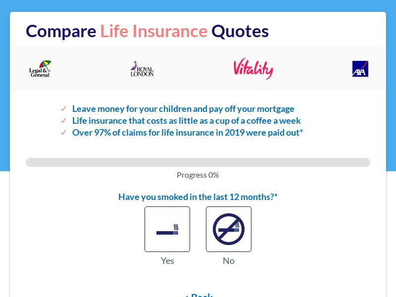Life Insurance - Short form Lander - D4 - ExSt - UK
