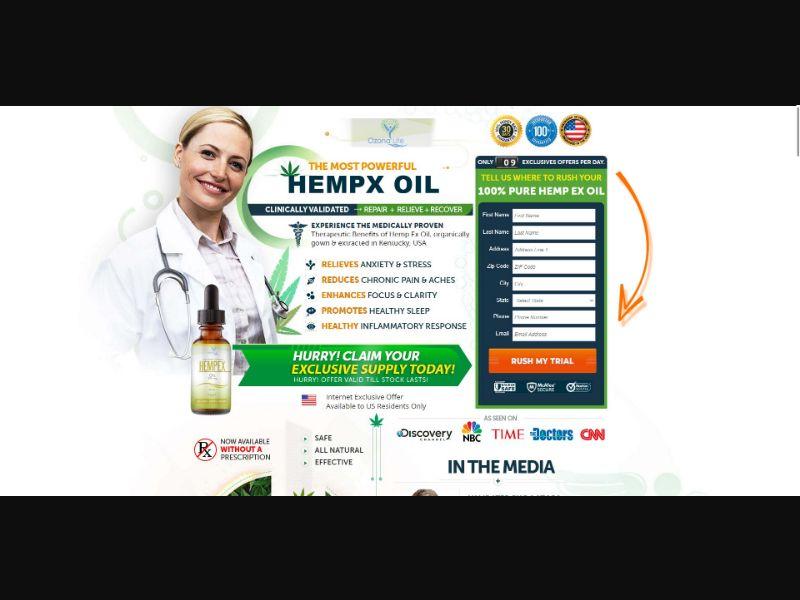 Ozona Life Hempx CBD Oil - CBD - Trial - [US]