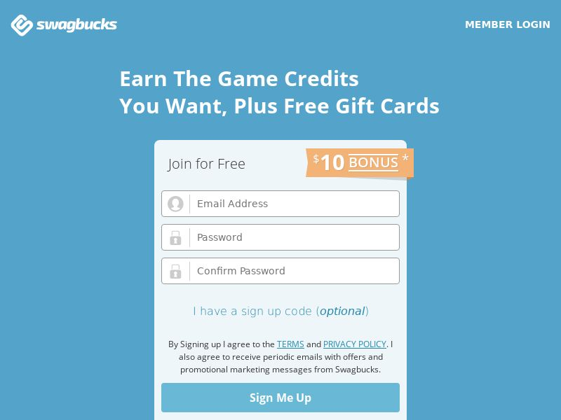 Swagbucks Get a FREE $5 gift card when you earn 500 points