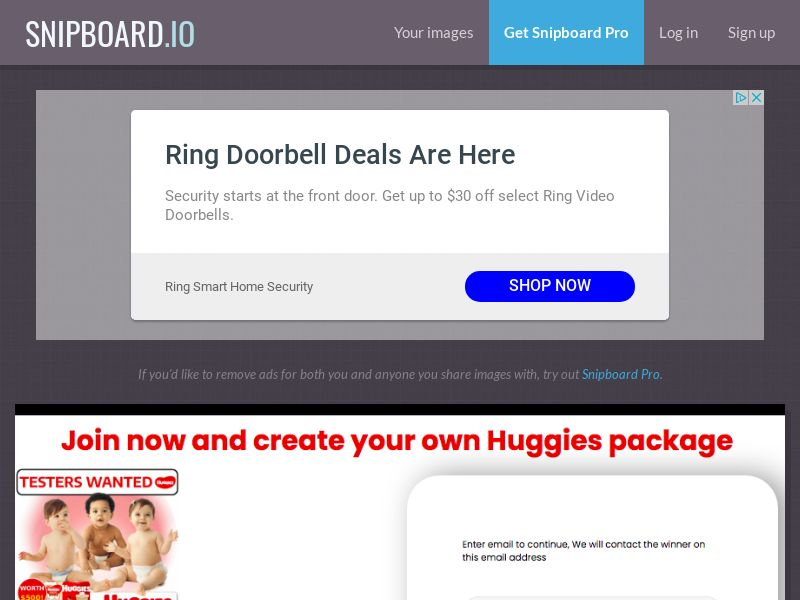 ForYouPromo - Testers Wanted for Huggies US - SOI