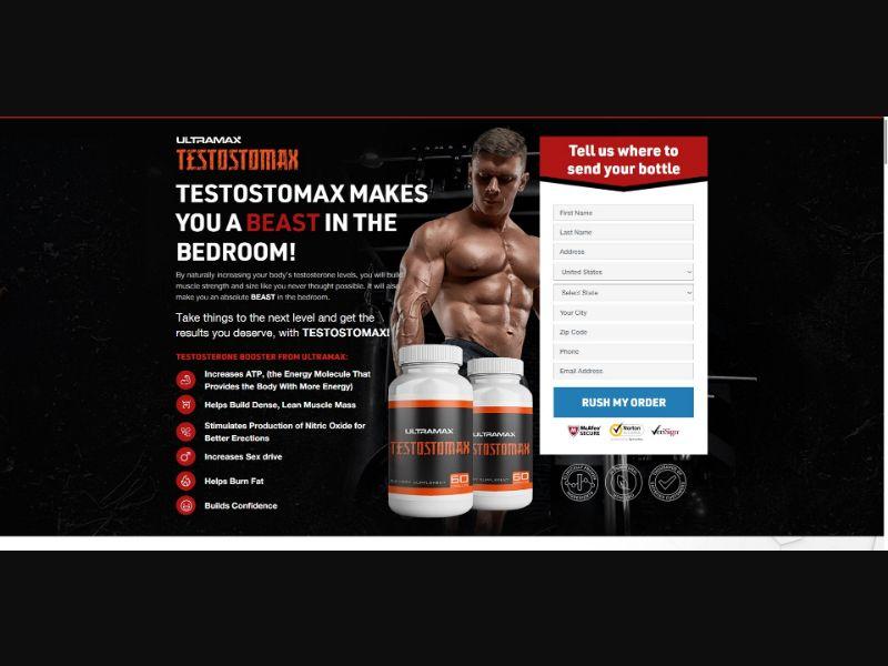 Ultramax Testostomax - Muscle Building - SS - [US]
