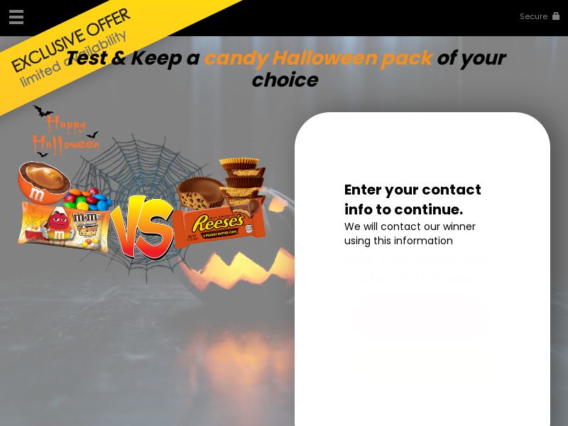 ForYouPromo - Test a Candy Halloween Pack - US [EMAIL SUBMIT]