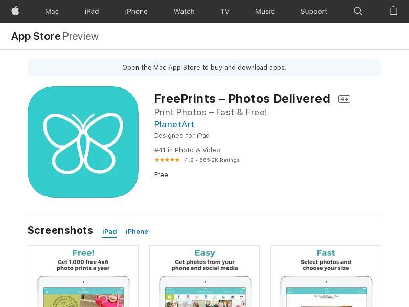 FreePrints iOS - BE