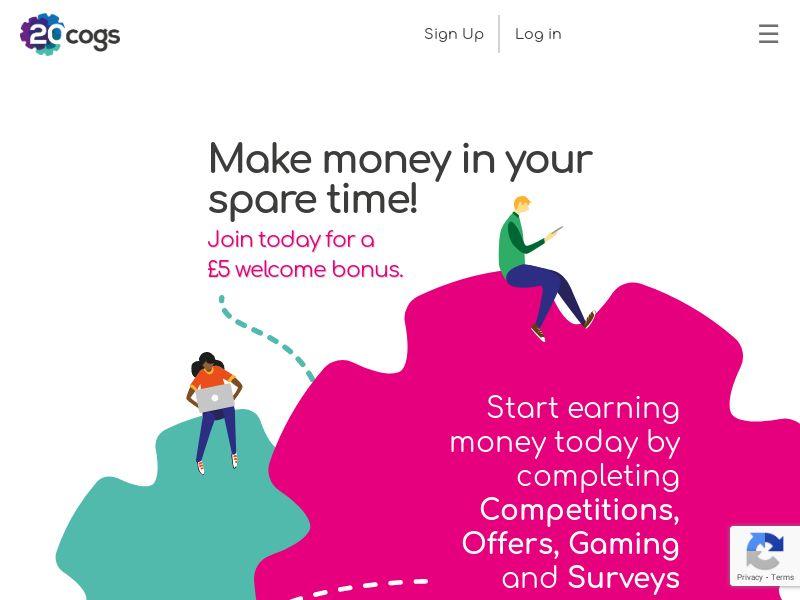 20Cogs - £5 Welcome Bonus [UK]