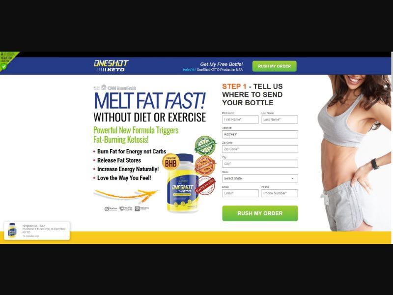 One Shot Keto - Diet & Weight Loss - SS - NO SEO - [US]