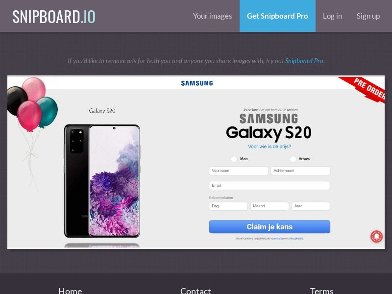 37881 - BE - NectarContests - Samsung s20 (dutch) (No Prelander) - SOI