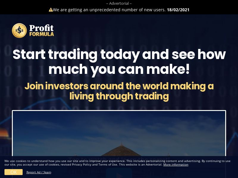 Profit Formula EN (HK,IE,MY,NZ,SG,GB), [CPA], Business, Investment platforms, Forex, Deposit Payment, bitcoin, cryptocurrency, finance, money