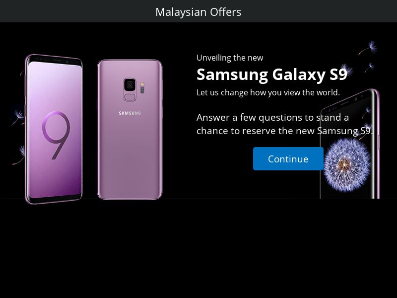 Sweepstakes Samsung S9 - CPL - [MY]