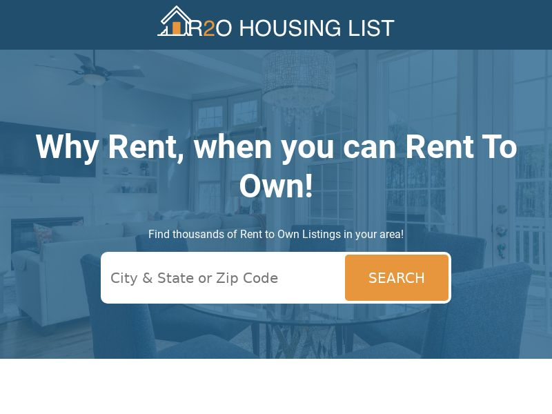 R2O Housing List - $1 Trial Sign Up   US