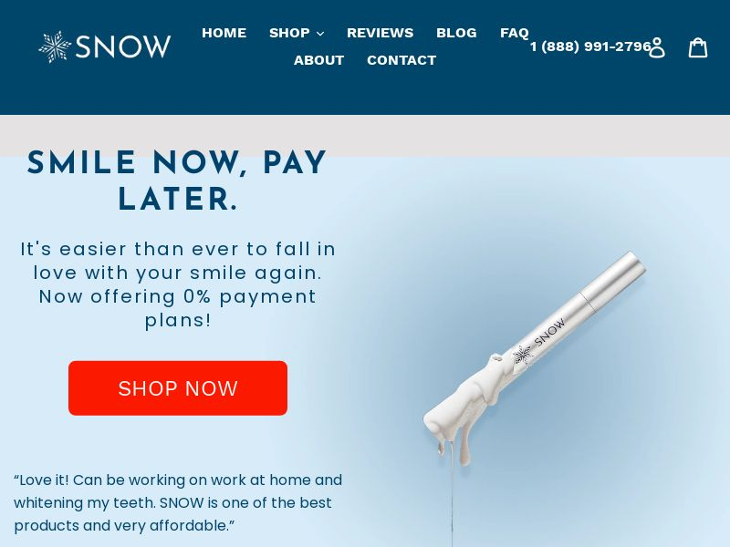 TrySnow - Teeth Whitening Kit [US] (Email Only) - CPA