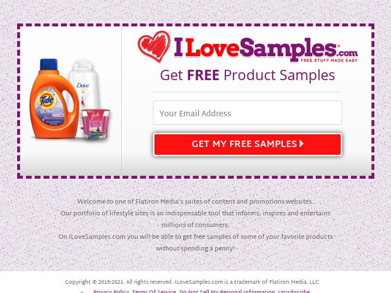 ILoveSamples - Mobile and Desktop - US