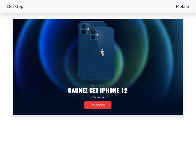 Win iPhone12 - [CPL SOI] - [FR]